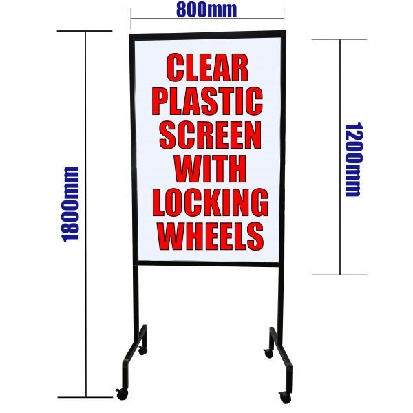 Clear Protection Divider Screen on locking wheels