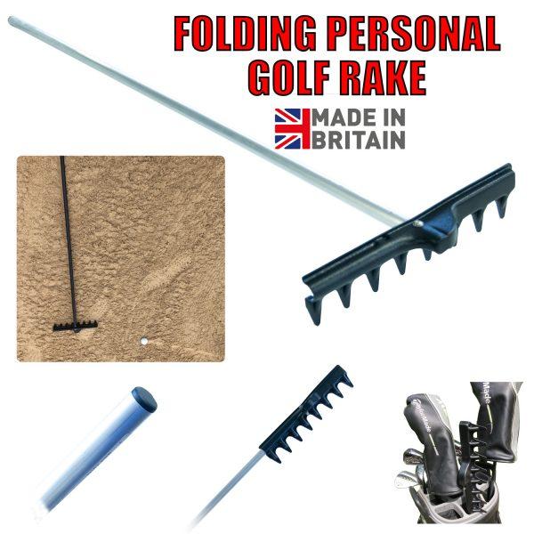 Folding Golf Bunker Rake- Alloy / ABS